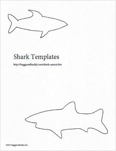 free shark template
