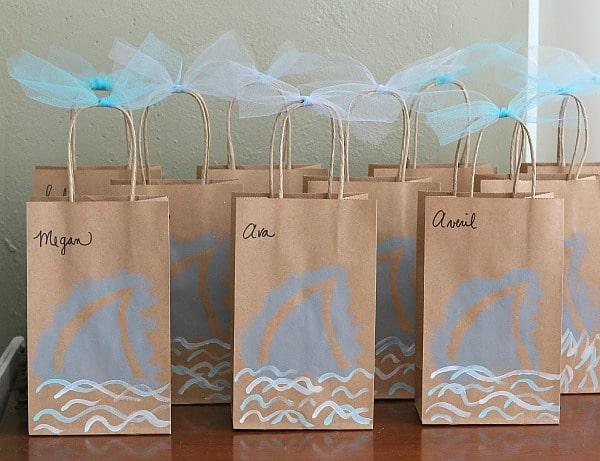 Shark Birthday Party Favor Bags~ BuggyandBuddy.com