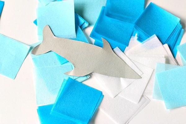 materials for shark suncatcher craft
