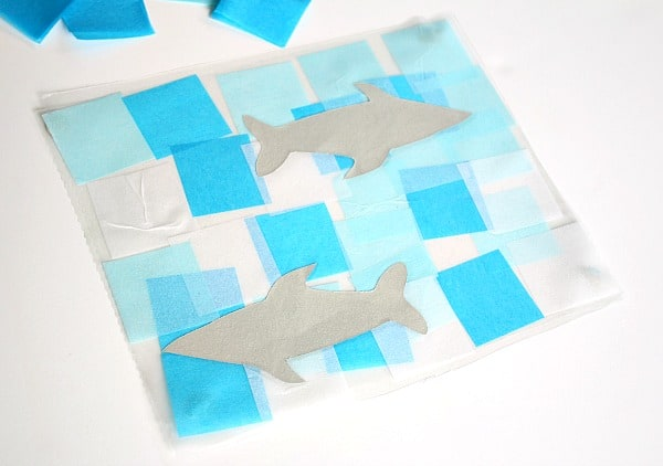 shark and ocean suncatcher craft