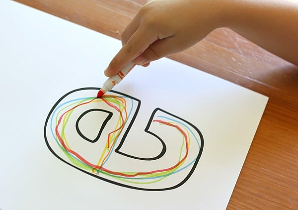name practice for preschoolers with rainbow letters