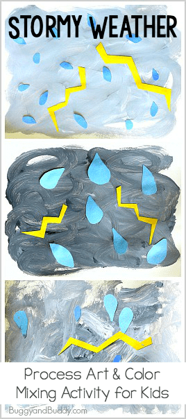 thunderstorm weather process art project