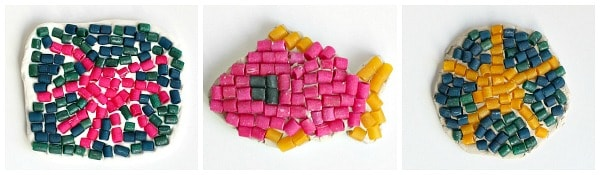 ocean animal mosaic art project for kids