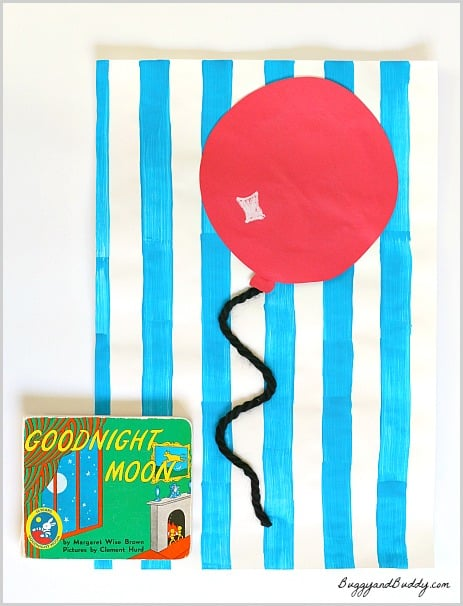 Preschool Art Activity Inspired by Margaret Wise Brown's Goodnight Moon ~ BuggyandBuddy.com