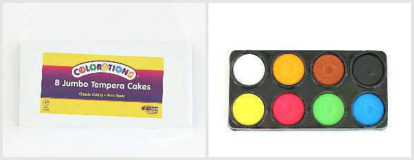 colorations tempera cakes