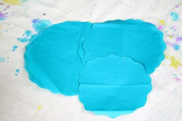 cut tissue paper circles