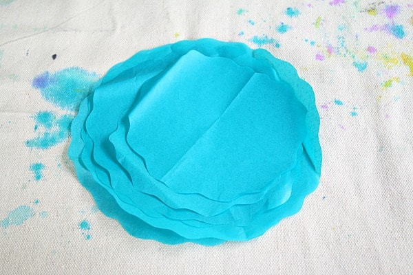 stack your tissue paper circles