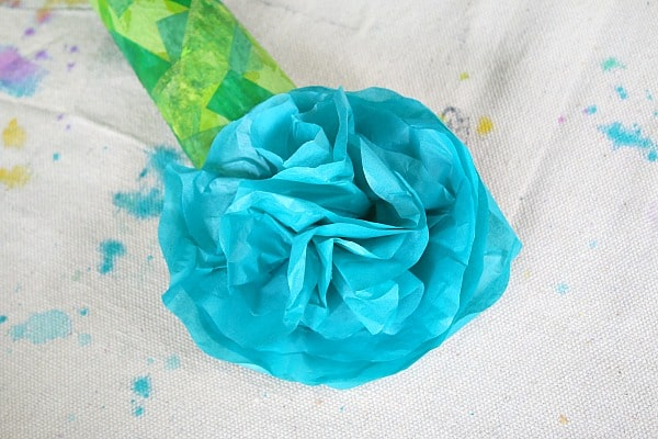 gently separate the tissue paper to create your flower
