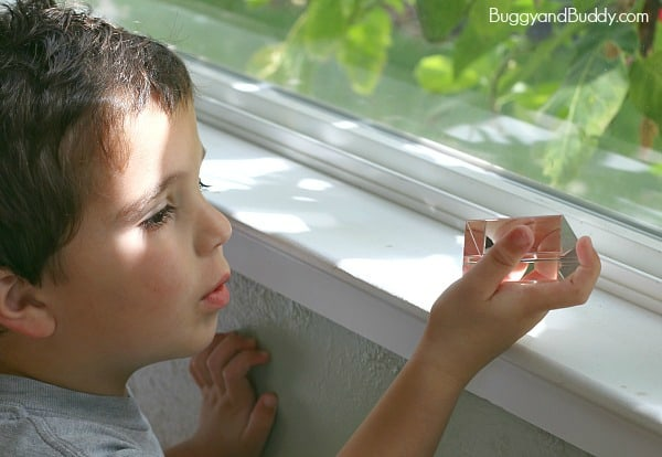 exploring prisms with kids