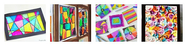Faux Stained Glass Crafts for Kids