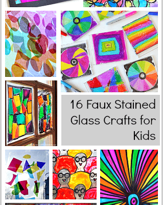 Stained Glass Craft For Kids Ladies Home Crafting