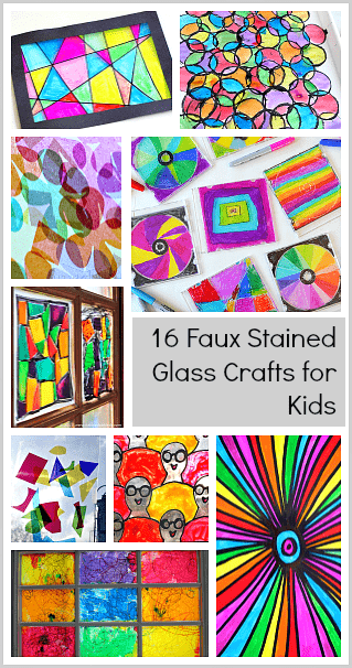16 Faux Stained Glass Crafts For Kids All Kinds Of Colorful Sun Catchers To Make