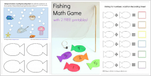 Homemade Fishing Math Game for Kids with 3 Free Printables