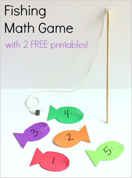 Fishing Math Game For Kids using Magnets And Foam W 3 FREE