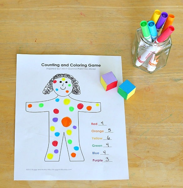 Counting Math Game Inspired By I Aint Gonna Paint No More Buggy And Buddy