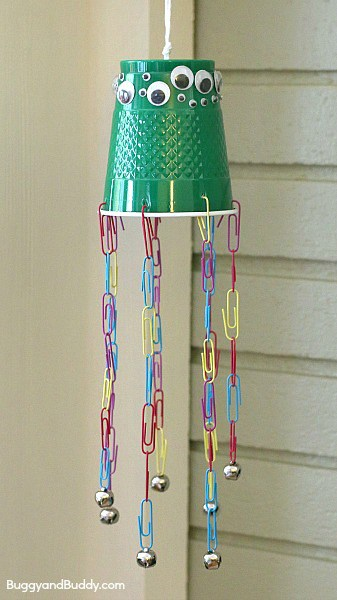 Jellyfish Wind Chime Fine Motor Craft for Kids