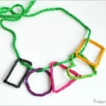 Math for Kids: Shape Necklace Craft Using Dyed Pasta