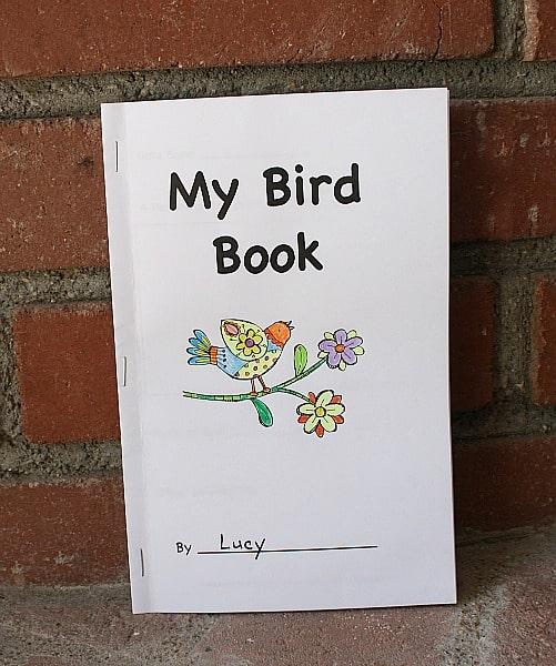 free printable bird book for kids