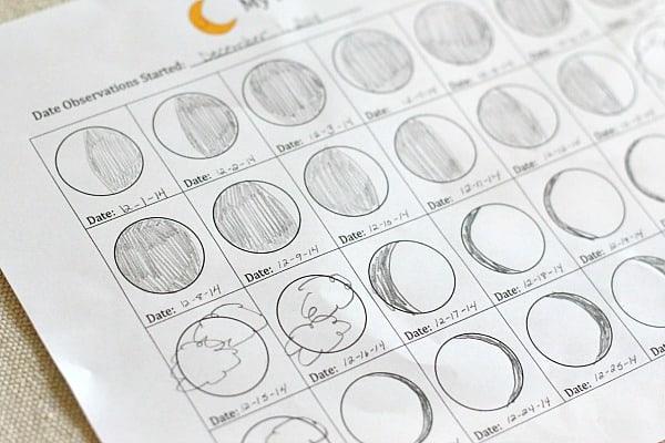 free printable moon journal for kids