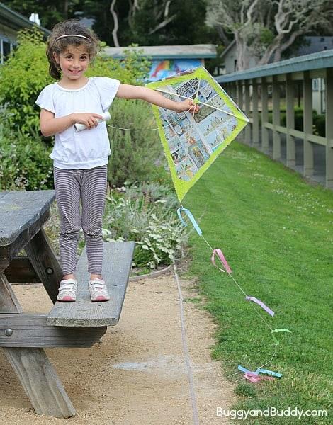 how to make a kite using newspaper