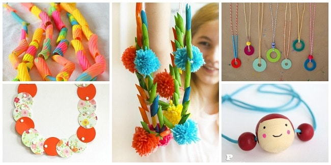 30 Unique Necklace Crafts For Kids Buggy And Buddy