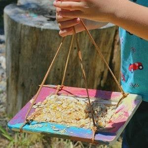 Crafts for Kids: Homemade Bird Feeders Using Frames