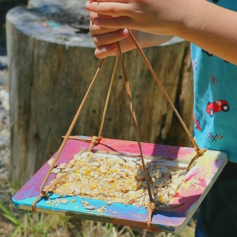 Crafts for Kids: Homemade Bird Feeders Using Frames - Buggy and Buddy