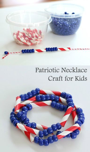 Patriotic Necklace Craft for Kids