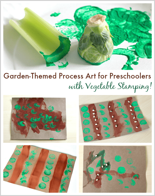 Astounding Garden Themed Process Art For Preschoolers With Vegetable Download Free Architecture Designs Jebrpmadebymaigaardcom