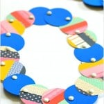 Mod Necklace Craft for Kids Using Paper Circles