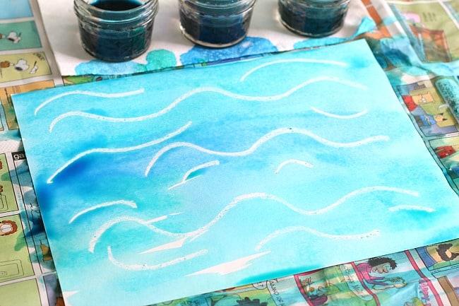 Craft Project Watercolor Crayon