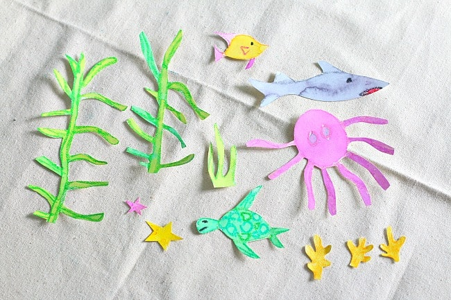cut out your sea animals