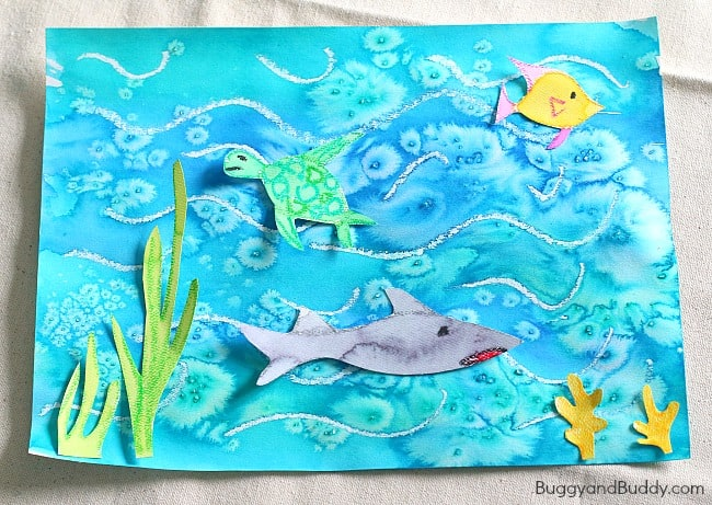 Cool ocean art project for kids buggy and buddy for Watercolor painting and projects