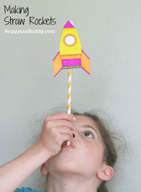Straw Rockets With Free Rocket Template Buggy And Buddy
