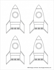 free rocket template