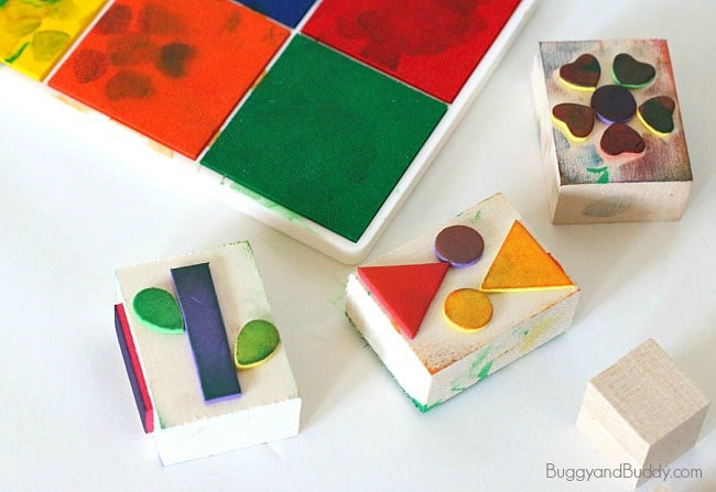 how to make stamps using foam stickers