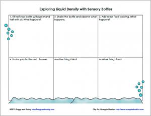 Free Printable Recording Sheet for Exploring Liquid Density