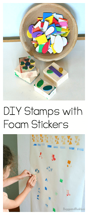 DIY Foam Stamps- Fun art center for kids perfect for the classroom or summer camp!