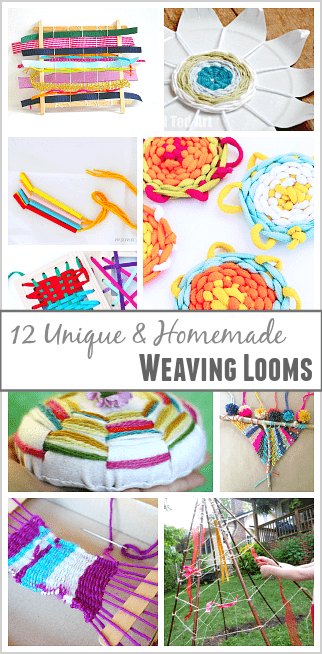12 Unique and Homemade Looms for Weaving with Kids