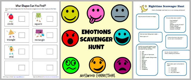 free scavenger hunts for kids