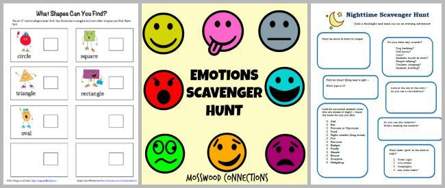 free scavenger hunts for kids