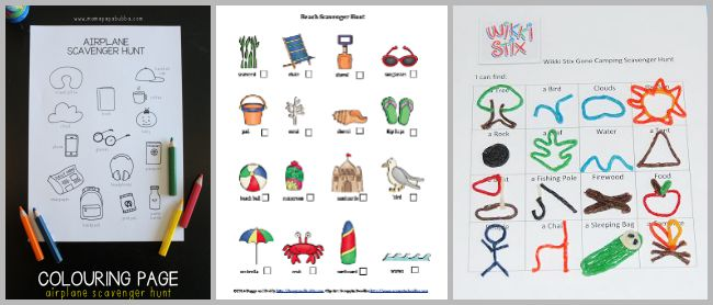 free printable scavenger hunts for kids