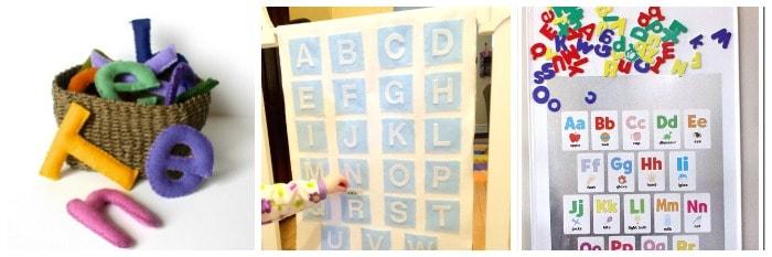 Homemade Alphabet Toys