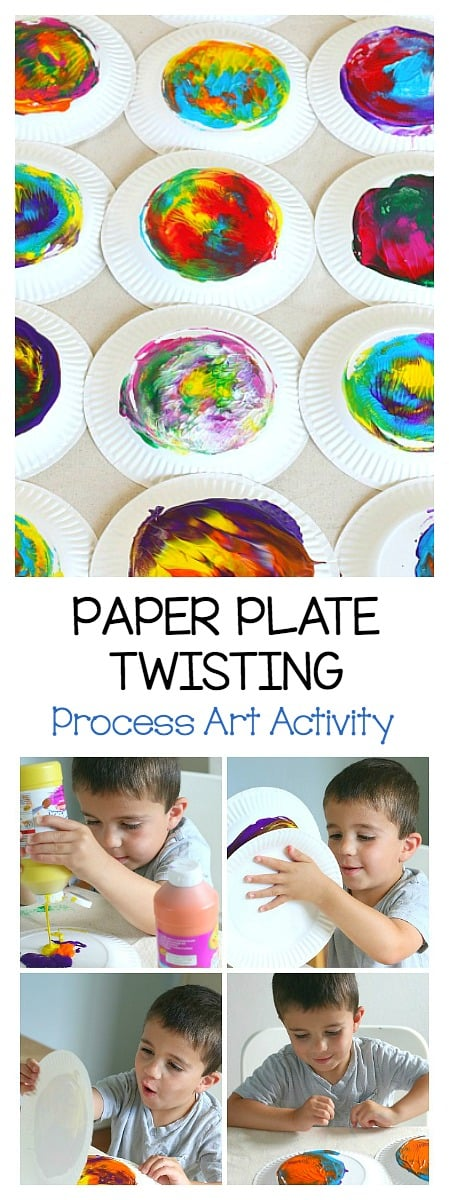 process art for kids: paper plate twisting