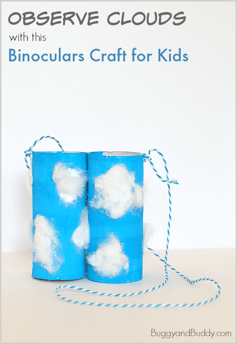 Weather for Kids: Observe Clouds with this Cloud-Themed Toilet Paper Roll Binoculars Craft ~ BuggyandBuddy.com