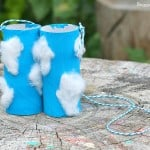 Weather for Kids: Observe Clouds with this Cloud-Themed Toilet Paper Roll Binoculars Craft