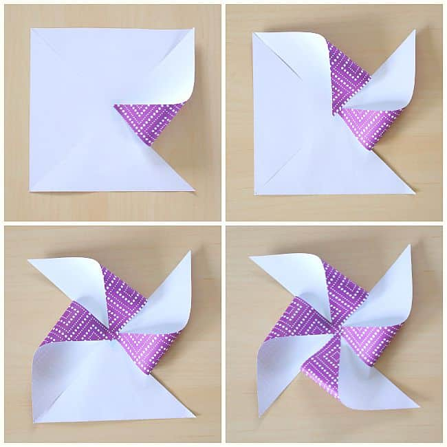 how to make a paper pinwheel (free template)