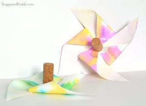 Paper Helicopter Pinwheel with Free Template