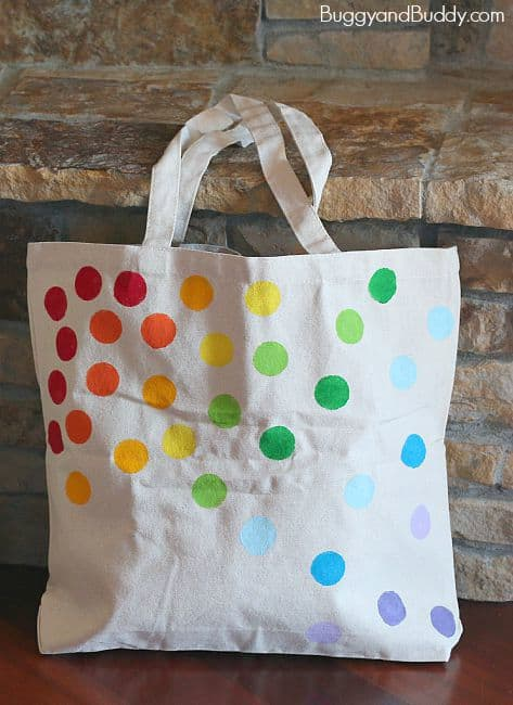 diy tote bag using stencils buggy and buddy. Black Bedroom Furniture Sets. Home Design Ideas
