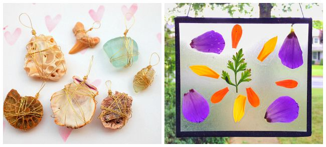 crafts for kids using natural materials